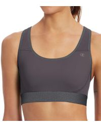 Champion - B1251 The Absolute Workout Double Dry Sports Bra (medium Grey/granite L) - Lyst