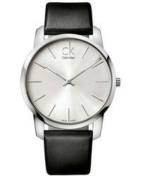 Calvin Klein - Ck City Leather Band Watch K2g211c6 - Lyst
