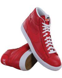 Nike - Blazer Mid Prm Game Red/white/black Casual Shoe 9.5 Men Us