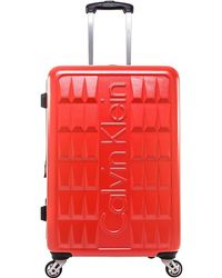 """CALVIN KLEIN 205W39NYC - Luggage Cornell 26"""" Hardside Spinner Checked Luggage - Lyst"""