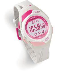 G-Shock - Ladies' White 60-lap Sports Watch - Lyst