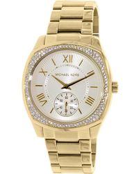 894615eb7209 Lyst - Michael Kors Bryn Mk2388 Leather Quartz Fashion Watch in Natural