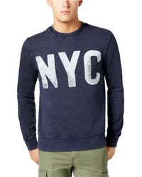 f9ca4afe Lyst - Tommy Hilfiger Plus Long Sleeve Top Tyson Nyc Logo Print In ...