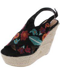628d554a4e9c Steve Madden - Razed-e Open Toe Slingback Wedge Sandals - Lyst