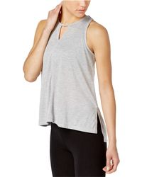 a29341429ed0d Lyst - Calvin Klein Womens Layered Beaded Tank Top in Blue