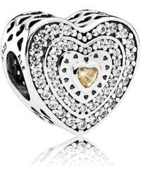 PANDORA - Lavish Heart Charm - 792081fcz - Lyst