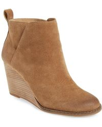 Lucky Brand - Yezzah Suede Wedge Boots - Lyst