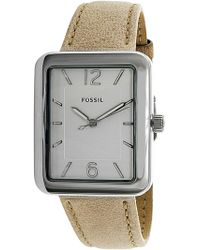 Fossil   Atwater Es4243 Leather Quartz Fashion Watch   Lyst