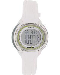 Timex - Corporation Ironman Sleek 50 Lap Mid Size Watch White Tw5k90700 - Lyst