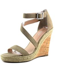 b8c3f260870 Charles David - Charles By Becki Tan Wedge Sandal - Lyst