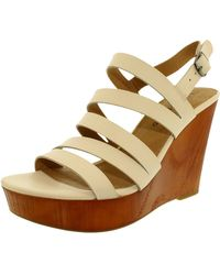 e2e04a2350d1 Lucky Brand - Lucky Larinaa Leather Ankle-high Leather Sandal - 8.5m - Lyst