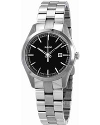 Rado - Hyperchrome Black Dial Ladies Stainless Steel Watch R32110153 - Lyst