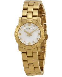 Marc Jacobs - Mini Amy White Dial -tone Stainless Steel Ladies Watch Mbm3057 - Lyst