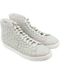 Nike - Blazer Mid Woven Sail Sail High Top Sneakers - Lyst