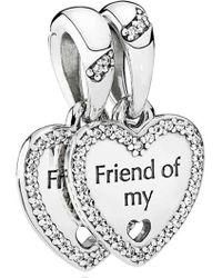 Pandora | Hearts Of Friendship Pendant Charm | Lyst
