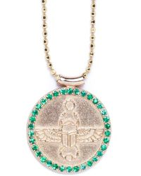 Congés Scarab Choker With Emeralds - Metallic
