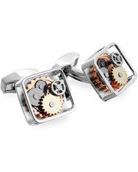 Tateossian - Silver Square Gear Cufflinks | - Lyst