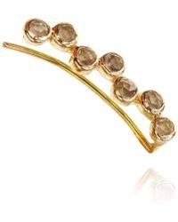 Perle de Lune - 18kt Gold Smoky Quartz Ear Cuff Left - Lyst