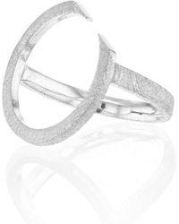 Ilda Design Silver Ring With Circling Top - Metallic