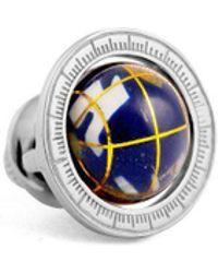 Tateossian - Sterling Silver Globe Cage Pin   - Lyst