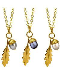 Amanda Cox Jewellery - 18kt Gold Vermeil Large Acorn Pendant - Lyst