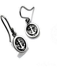 deVos Jewellery - Flat Anchor Earrings - Lyst