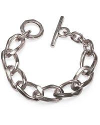 Elindesign Jewellery Sterling Silver Fatcat Twisted Bracelet - Metallic