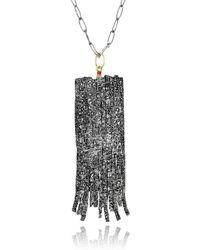 Apostolos Jewellery - Crevise Oxidised Silver Pendant - Lyst