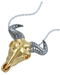 Reeves and Reeves - Wildebeest Yellow Gold Pendant Necklace - Lyst