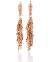 Mara Hotung Aztec Earrings Pink Sapphires 18kt Rose Gold - Metallic