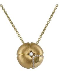 LO COCO AND KUBPART - Lilac Large Pendant Yellow Gold - Lyst