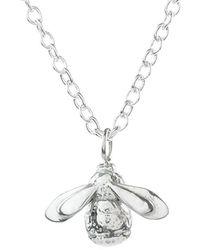 Lucy Flint Jewellery Bee Sterling Silver Necklace - Metallic