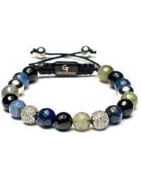GT Collection Mixed Agate, Labradorite, & Sapphire Women's Beaded Bracelet - Multicolor