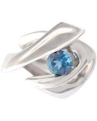 Zolia Jewellery Small Coral Ring - Metallic