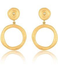 """Lika Behar Collection - Gold """"roundabout"""" Earrings - Lyst"""