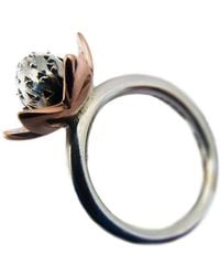 Charlotte Cornelius - Silver And Antique Rose Gold Succulent Flower Ring - Lyst