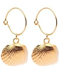Susan Driver - Yellow Gold Plated Oceania Ark Hoops - Lyst