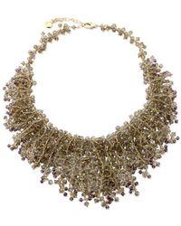 Elisa Ilana Jewelry - Smoky Quartz And Amethyst Necklace - Lyst