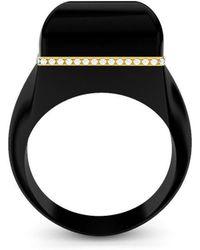 MARCELLO RICCIO - Rose Gold & Black Agate Ring - Lyst