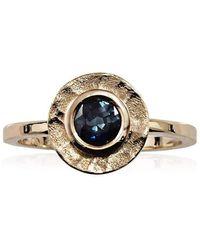 Aimee Sutanto Jewellery - Winter Lake Halo Sapphire Ring - Lyst