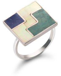 SOLUNA - Sterling Silver Mosaic Three Worlds Ring - Lyst