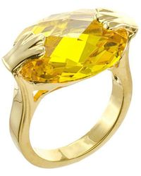 CZ by Kenneth Jay Lane - Faceted Cz Oval Ring - Lyst
