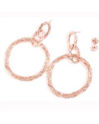 LaParra Jewels 18kt Rose Gold Vermeil Loop Earrings - Multicolor
