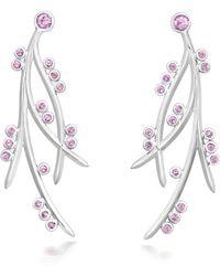 September Rose - Kanji Branch Earrings - Lyst