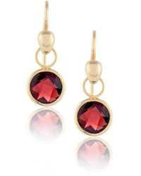 Biiju Lucy Garnet Earrings - Multicolor