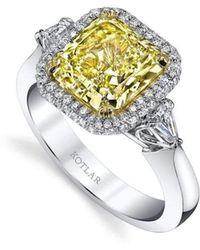 Harry Kotlar Emerald Cut Sapphire Harmonie Ring - UK M - US 6 - EU 52 3/4 E9JsS