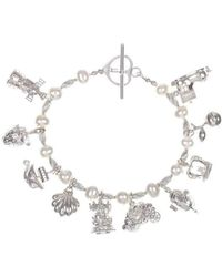Lily Blanche - Pearl & Silver With 10 Silver Magical Charms - Lyst