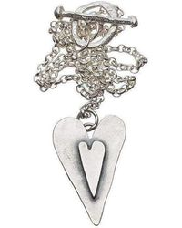 Kate Chell Jewellery - Black Heart Hammered Pendant - Lyst