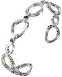 Botta Gioielli Rigid Black And White Bubbles Bracelet