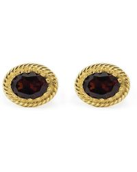 Vintouch Italy - Luccichio Garnet Stud Earrings - Lyst